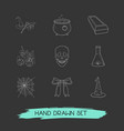 set of feast icons line style symbols with festive vector image vector image
