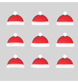Set of hat isolated on white background vector image vector image