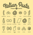 Set of pasta vector image vector image
