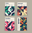set of retro covers abstract compositions vector image