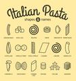 set pasta vector image vector image