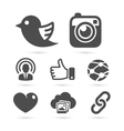 Social network icons isolated on white vector image