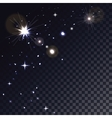 Stars in Space Magic light particle Glowing vector image vector image