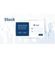 stock market forex trading graph futuristicsmart vector image vector image