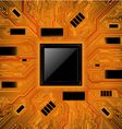 Technology abstract background Chipset concept vector image vector image