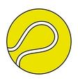 tennis sport ball equipment icon vector image vector image