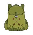 travel bag camping icon vector image vector image
