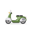 urban scooter isolated icon vector image vector image