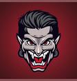 vampir head mascot logo design vector image vector image