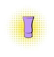 Violet cosmetic tube icon comics style vector image vector image