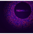 Violet technology round for your logo template vector image
