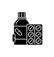 vitamins black icon sign on isolated vector image