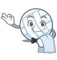 waiter volley ball character cartoon vector image