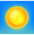 Weather icon shiny sun in the blue sky vector image