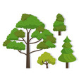 white background with several trees vector image vector image