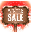 Winter Sale Signboard vector image vector image