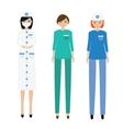 Medical women team Nurse paramedic doctor vector image