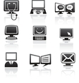 set of computer icons vector image