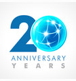 20 anniversary connecting logo vector image vector image