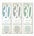 30 years Anniversary retro banner set vector image vector image