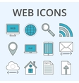 a set linear icons vector image vector image