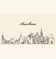 aachen skyline north rhine westphalia germany draw vector image vector image