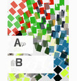 abstract geometrical texture with infographic vector image