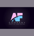 af alphabet letter join joined letter logo design vector image