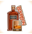 alcohol drink bourbon vector image vector image