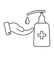 antiseptic disinfectant liquid soap based on vector image
