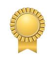 award ribbon gold icon golden medal design vector image vector image