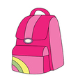backpack pink vector image vector image