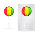 balloons in as guinea national flag vector image vector image