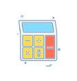 bank icon design vector image vector image