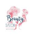 beauty salon logo original design label for hair vector image vector image