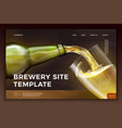 beer bottle on bright modern site template vector image vector image