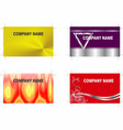 business cards 3 vector image vector image