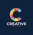 business corporate letter c logo design colorful vector image vector image