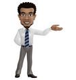 cartoon businessman showing hand gesture sideways vector image vector image