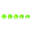 casino green chips isolated on white realistic vector image