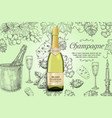champagne poster design template vector image