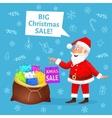 Christmas sale Santa Claus cartoon vector image vector image