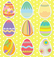 Colorful Pattern Easter Eggs vector image vector image