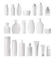 cream tube and spray soap dispenser and dropper vector image