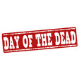 day of the dead stamp vector image