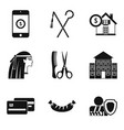 egyptian icons set simple style vector image vector image