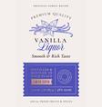 family recipe vanilla spice liquor acohol label vector image vector image