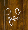 Fence with inscription I love you vector image vector image