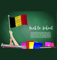 flag of belgium on black chalkboard background vector image