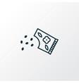 flower seed icon line symbol premium quality vector image